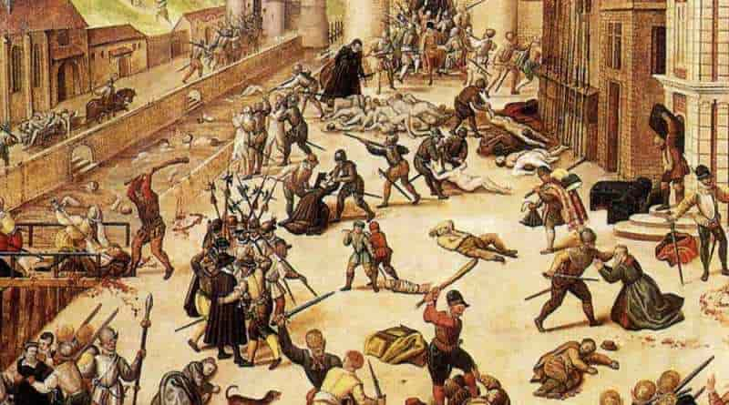 Варфоломеевская ночь — кровавая резня на праздник святого Варфоломея